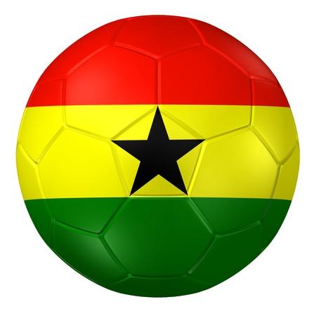 ghana: 3d rendering of a soccer ball.