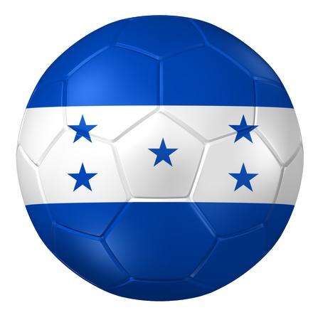 bandera honduras: representación 3D de un balón de fútbol.