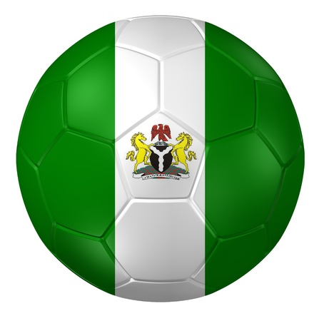 nigeria: 3d rendering of a soccer ball.