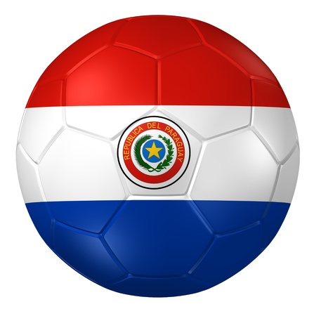 paraguay: 3d rendering of a soccer ball.