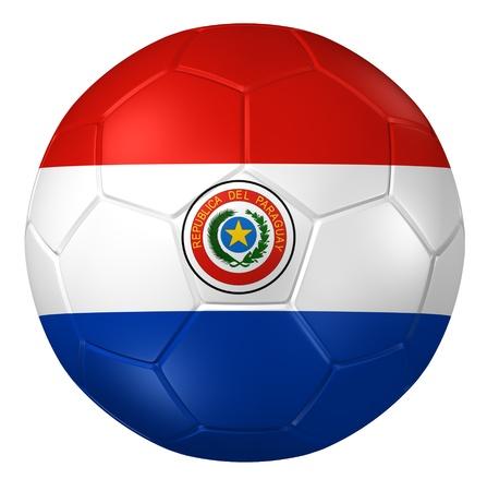 bandera de paraguay: representación 3D de un balón de fútbol.