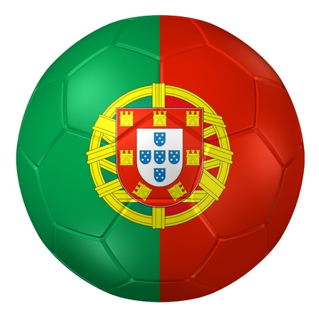 portugal: 3d rendering of a soccer ball.