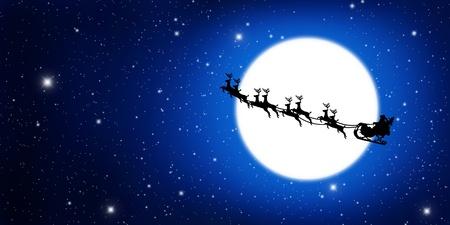 ?    ?     ?    ? �sledge: Luna Papa Noel en trineo con ciervos y amarillo
