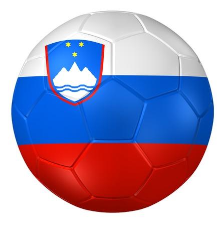 slovenia: 3d rendering of a soccer ball.