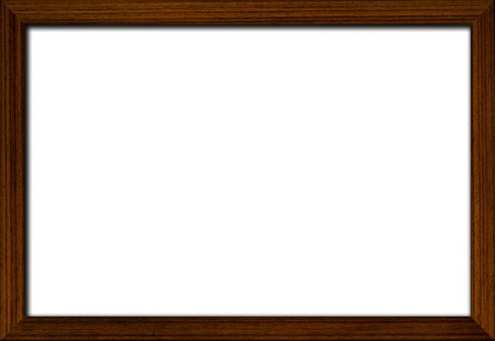 blank wooden frame onwhite background photo