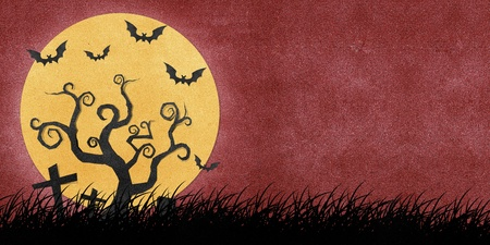 Halloween night recycled papercraft background Stock Photo - 10625141