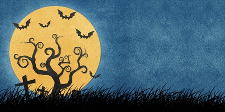 papercraft: Halloween night recycled papercraft background