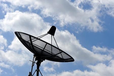 airwaves: satellite disc against blue sky