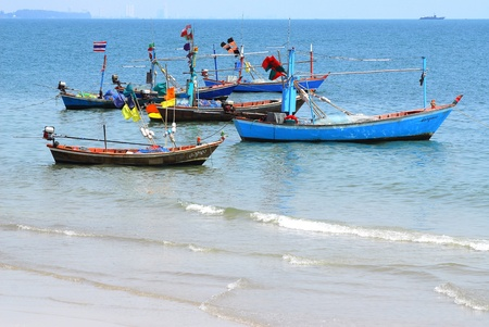 huahin: Fishing boats in thailand.