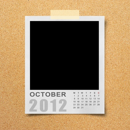 Calendar 2012 on blank photo Background Stock Photo - 11099799
