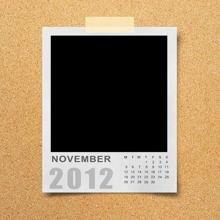 Calendar 2012 on blank photo Background photo