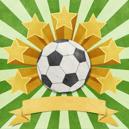 football star recycled papercraft background Stock Photo - 11646662