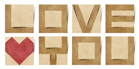 i love you alphabet recycled paper craft photo