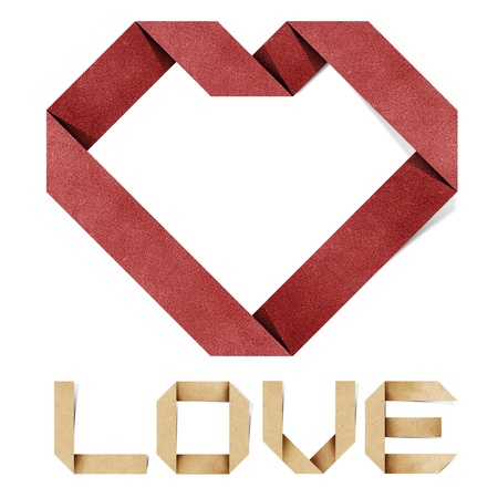 i love you alphabet recycled paper craft Stock Photo - 11957002