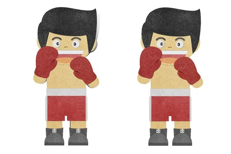 post teen: Paper boy ( Boxer ) recycled papercraft