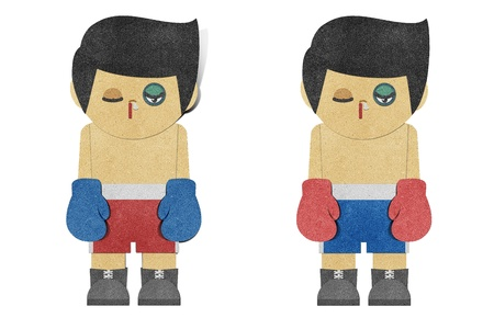 loser: Paper boy ( Boxer ) recycled papercraft