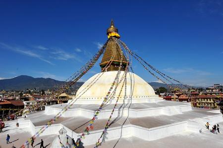 Budhanath Stupa in Kathmandu, Nepal ,2012