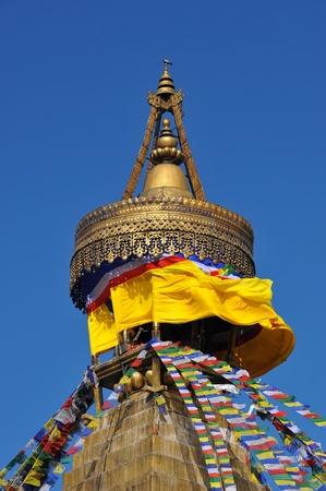 Budhanath Stupa in Kathmandu, Nepal ,2012 photo