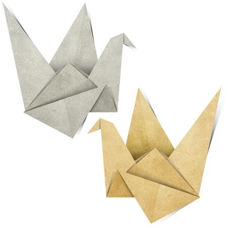 origami oiseau: Origami oiseaux fabriqu�s � partir de papier recycl�