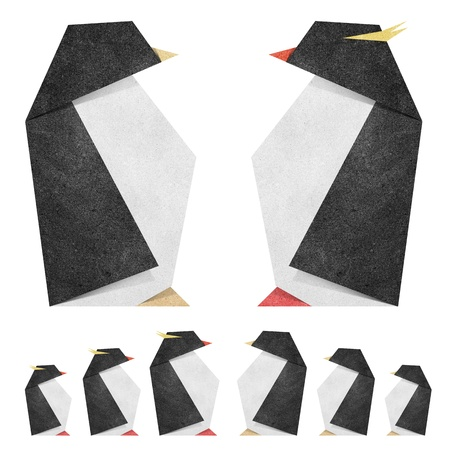 Origami Penquin Recycle Papercraft photo