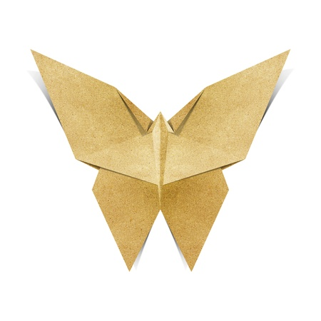 recycled paper: Origami butterfly made from Recycle Paper