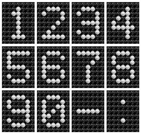 score board: Soccer ball   football   score board number