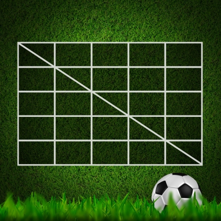 Blank Soccer Ball ( Football )  4x4 Table score  photo