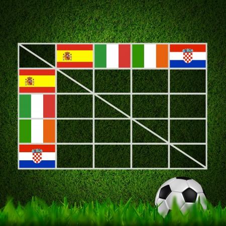 Soccer Ball ( Football ) 4x4 Table score ,euro 2012 group C photo