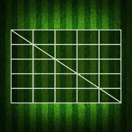 Blank Soccer Ball ( Football )  4x4 Table score  photo
