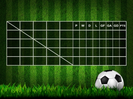 Blank Soccer ( Football )  Table score  photo