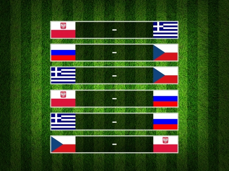 Group stage ,euro 2012 group A  photo