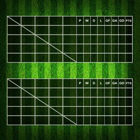 score board: Blank Soccer ( Football )  Table score  Stock Photo