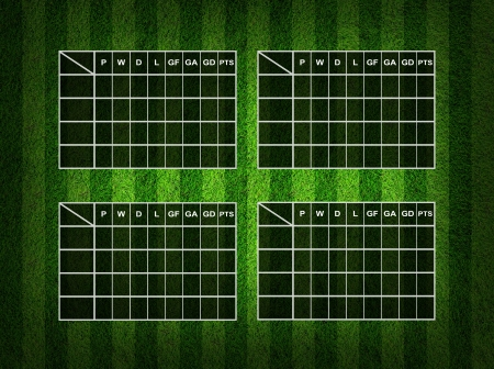 score table: Blank Soccer ( Football )  Table score  Stock Photo