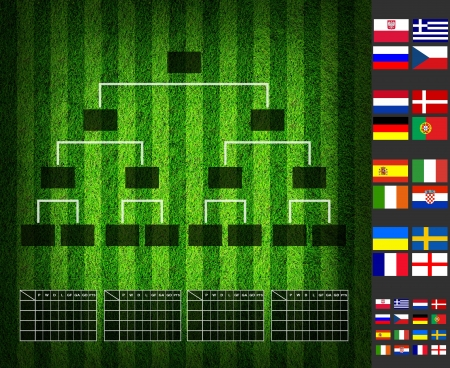 Soccer ( Football ) Tounament Map , group A B C D  photo