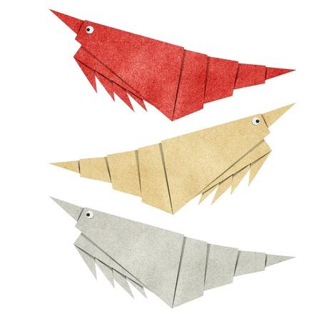 papercraft: Origami shrimp recycled papercraft