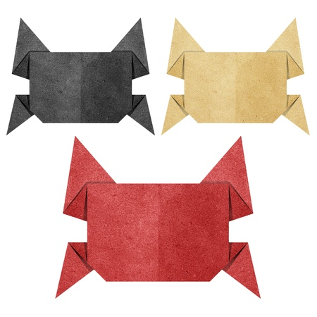 papercraft: Origami crab recycled papercraft Stock Photo