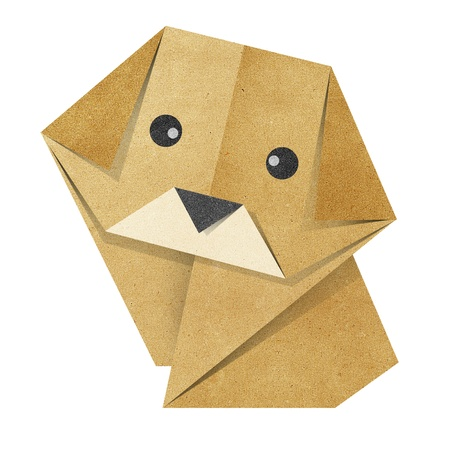 origami paper: Origami dog made from Recycle Paper