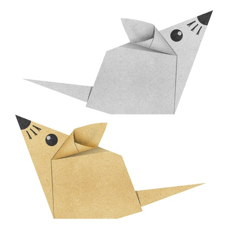 Origami mouse made from Recycle Paper photo