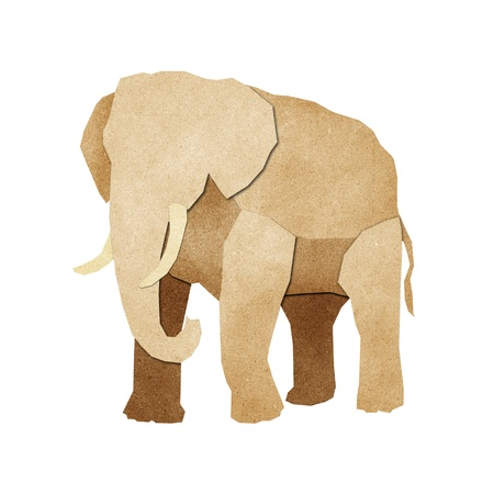 made by hand: Papercut Elephant Recycled Paper