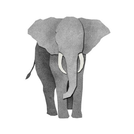 Papercut Elephant made from Recycled Paper Stock Photo - 14299166
