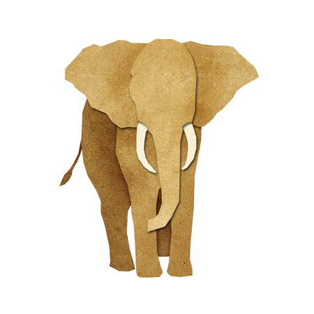 Papercut Elephant made from Recycled Paper photo
