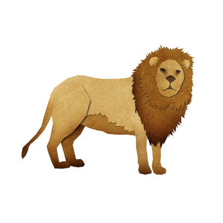 Papercut Lion made from Recycled Paper photo