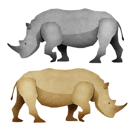 Papercut Rhino made from Recycled Paper photo