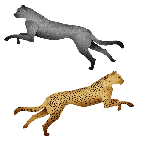 Papercut Leopard  made from Recycled Paper photo