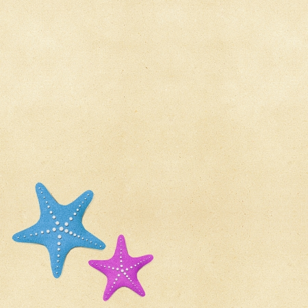 star fish: Starfish on beach recycled paper background