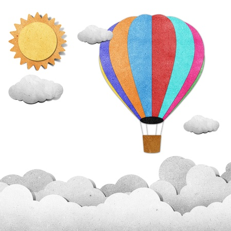Balloon made from recycled paper background photo