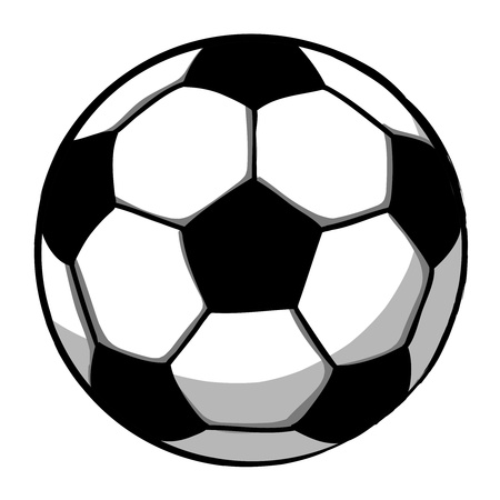 hand cartoon: Soccerball cartoon