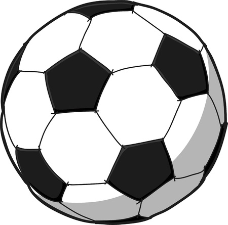 kids football: Soccerball cartoon