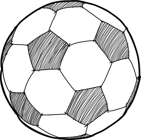 ball field: Soccerball cartoon