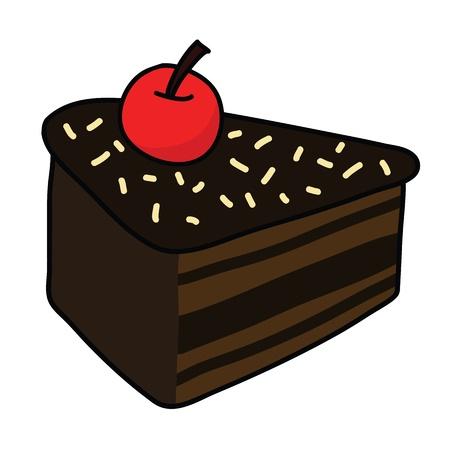 Cartoon cake Ilustracje wektorowe